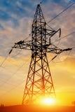 Torre ad alta tensione della posta ad alta tensione Immagine Stock Libera da Diritti