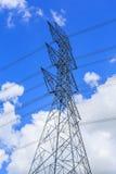 Torre ad alta tensione della trasmissione Fotografie Stock Libere da Diritti