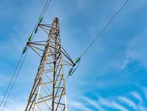 Torre ad alta tensione della trasmissione Immagini Stock Libere da Diritti