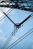 Torre ad alta tensione della trasmissione Fotografia Stock