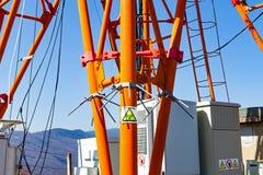 Torre ad alta tensione elettrica Fotografie Stock Libere da Diritti