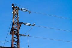 Torre ad alta tensione elettrica Fotografia Stock