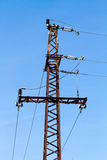 Torre ad alta tensione elettrica Fotografia Stock Libera da Diritti