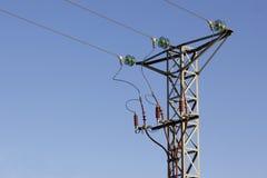 Torre ad alta tensione superiore Fotografia Stock Libera da Diritti