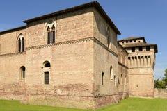 Torre ad ovest del sud del castello di Sforzesco, Pandino Fotografia Stock