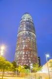 Torre Agbar在巴塞罗那 库存图片