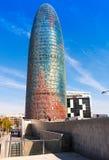 Torre agbar摩天大楼 库存图片