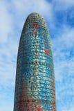 Torre Agbar摩天大楼 免版税库存图片
