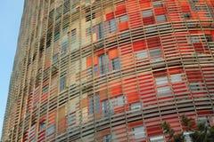 Torre Agbar,巴塞罗那西班牙 免版税库存照片