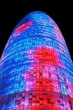 Torre Agbar, Βαρκελώνη Στοκ Φωτογραφίες
