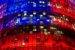 Torre Agbar, Βαρκελώνη Στοκ φωτογραφία με δικαίωμα ελεύθερης χρήσης