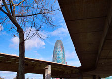Torre Agbar Στοκ φωτογραφία με δικαίωμα ελεύθερης χρήσης