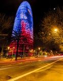 Torre Agbar Fotografía de archivo