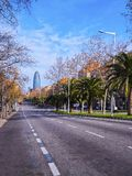 Torre Agbar in Barcelona Stock Photography