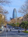 Torre Agbar in Barcelona Royalty Free Stock Photo