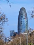 Torre Agbar in Barcelona Royalty Free Stock Photography