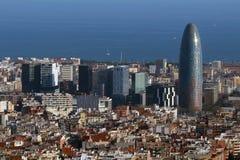 Torre Agbar, Barcelona -, Hiszpania Obraz Stock