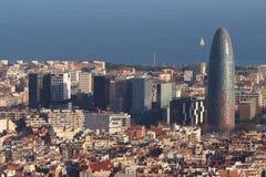 Torre Agbar, Barcelona -, Hiszpania Obraz Royalty Free