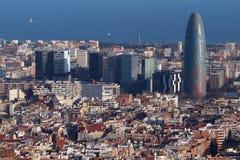 Torre Agbar, Barcelona -, Hiszpania Zdjęcie Royalty Free