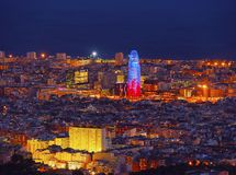 Torre Agbar in Barcelona Royalty Free Stock Image