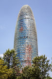 Torre Agbar in Barcelona royalty free stock images