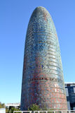 Torre Agbar in Barcelona, Spain Royalty Free Stock Photos