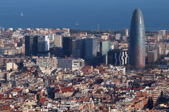 Torre Agbar - Barcelona, Spain Royalty Free Stock Photo