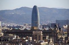 Torre Agbar in Barcelona, Spain Stock Photos