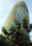 Torre Agbar, Barcelona Spanje Stock Fotografie