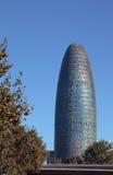 Torre Agbar berühmter Kontrollturm von Barcelona Stockbild