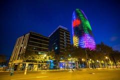 Torre Agbar budynek biurowy Zdjęcia Royalty Free