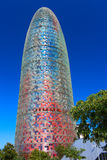 Torre Agbar building. Barcelona, Spain Royalty Free Stock Images