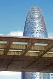 Torre Agbar del grattacielo di Barcellona Immagine Stock Libera da Diritti