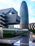 Torre Agbar drapacz chmur w Barcelona, Hiszpania Obraz Stock