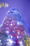 Torre Agbar en Barcelona Fotos de archivo