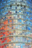 Torre Agbar facade, barcelona Royalty Free Stock Photo