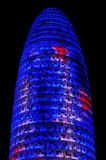 Torre Agbar i Barcelona, Spanien Royaltyfri Fotografi
