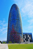 Torre Agbar i Barcelona, Spanien Fotografering för Bildbyråer