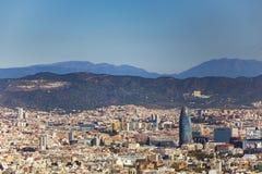 Torre Agbar i linia horyzontu Obraz Stock