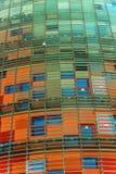 Torre agbar jest 38 opowieść drapacza chmur wierza w Barcelona Catalon Obrazy Royalty Free