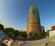 Torre Agbar  the lipstick Royalty Free Stock Image