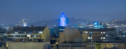 Torre Agbar at night Royalty Free Stock Photo