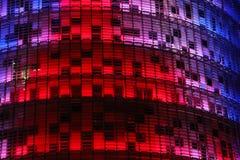 Torre Agbar nocą Obraz Royalty Free