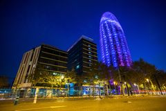 Torre Agbar office building Stock Photography
