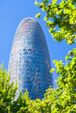 The Torre Agbar skyscraper in Barcelona Royalty Free Stock Photos