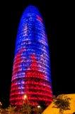 Torre Agbar w Barcelona, Hiszpania Zdjęcia Stock