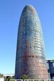 Torre Agbar w Barcelona, Hiszpania Zdjęcia Royalty Free