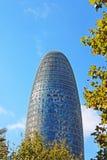 Torre Agbar w Technologicznym okręgu w Barcelona, Hiszpania Obraz Stock