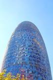 Torre Agbar w Technologicznym okręgu w Barcelona, Hiszpania Obrazy Stock