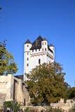 Torre al castello elettorale in Eltville, Germania Immagini Stock Libere da Diritti